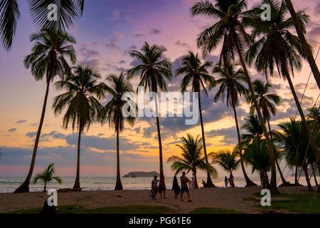 Spiaggia, Parco Nazionale di Corcovado, Osa Peninsula, Costa Rica. Foto Stock