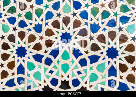Stile islamico le piastrelle che formano gli intricati disegni