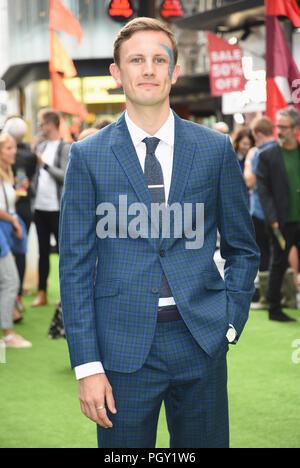 Hugh Coles, 'festival' Premiere mondiale,Cineworld Leicester Square,London.UK 13.08.18 Foto Stock