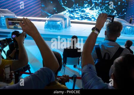 Mosca, Russia. Il 29 agosto 2018. 2018 Moscow International Motor Show Credito: Nikolay Vinokurov/Alamy Live News Foto Stock