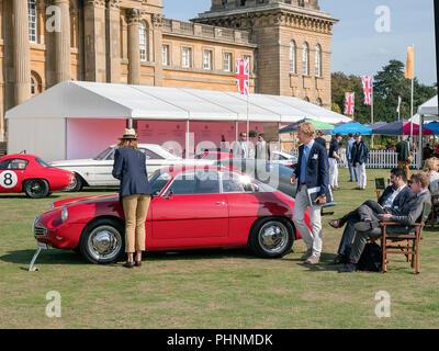 1960 Alfa Romeo Giulietta sprint Zagato a Salon Prenotazione 2018 presso il Palazzo di Blenheim Woodstock Oxfordshire UK Foto Stock