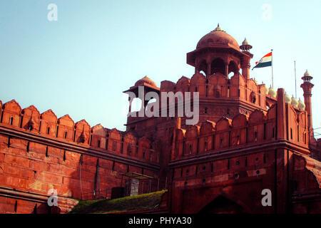 Unesco World Heritage Site, Red Fort, New Delhi, India. Foto Stock