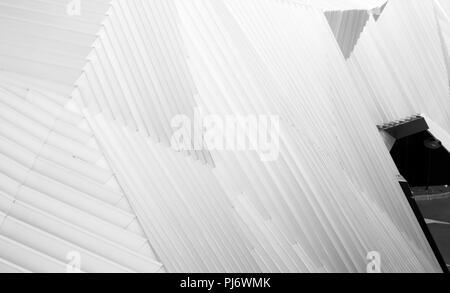 Architettura geometrica linee che formano una immagine astratta o dello sfondo Foto Stock