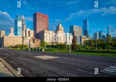 Chicago è una città negli Stati Uniti stato dell'Illinois, è la terza città più popolosa degli Stati Uniti. Foto Stock