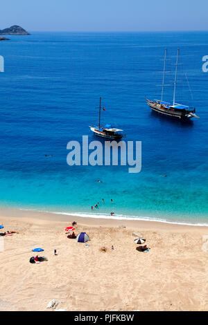 Turchia, provincia di Antalya, spiaggia di Kaputas fra Kalkan e Kas Foto Stock