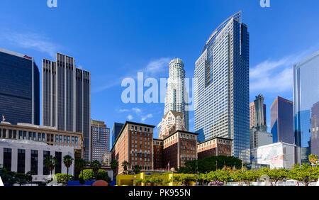 Pershing Square nel centro cittadino di Los Angeles, California, USA.