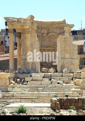 Baalbek rovine romane in Libano: Tempio Rotondo di Venere Foto Stock