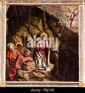 Italia Piemonte Ivrea chiesa di San Bernardino - interno affrescato - Storia della vita e della Passione di Cristo Foto Stock
