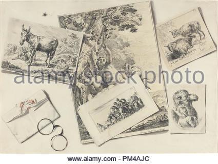 Trompe Loeil Stampe Antiche Una Busta Strappata Con Il Corno