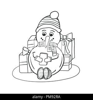 Bambini A Natale La Colorazione Di Pagina Foto Immagine Stock