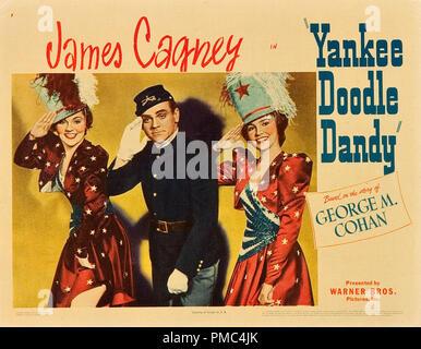 James Cagney, Yankee Doodle Dandy (Warner Brothers, 1942). La lobby e file scheda di riferimento # 33595 819 THA Foto Stock