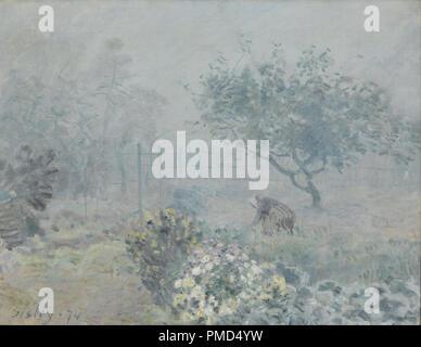 Le Brouillard Voisins, nebbia, Voisins. Data/Periodo: 1874. La pittura. Olio su tela. Altezza: 500 mm (19.68 in); larghezza: 650 mm (25.59 in). Autore: Alfred Sisley. SISLEY ALFRED. Foto Stock