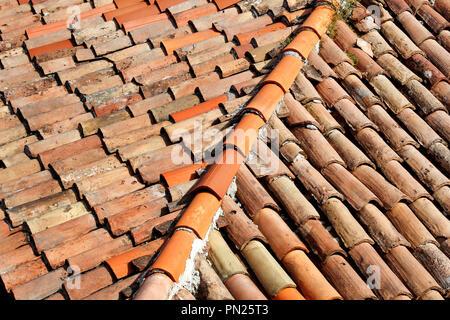 Argilla texture tetto di tegole schema rosso sfondo foto