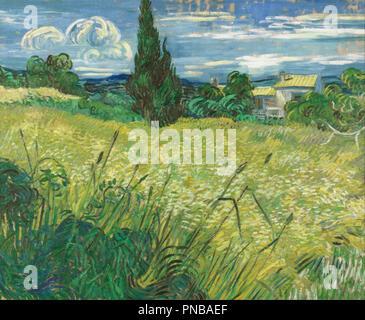 Campo verde. Data/Periodo: 1889. La pittura. Olio su tela. Altezza: 73,5 cm (28,9 in); Larghezza: 92,5 cm (36,4 in). Autore: Vincent van Gogh. VAN GOGH, VINCENT. Foto Stock