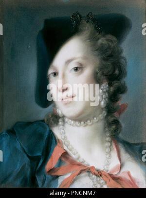 Un veneziano Lady dalla casa del Barbarigo (Caterina Sagredo Barbarigo). Data/Periodo: 1735 - 1740. La pittura. Altezza: 420 mm (16.53 in); larghezza: 330 mm (12.99 in). Autore: carriera, ROSALBA. ROSALBA CARRIERA. Carriera, Rosalba Giovanna. Foto Stock