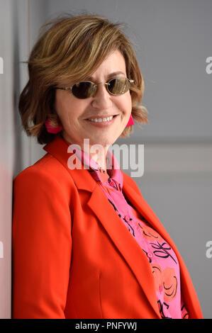 San Sebastian, Spagna. Il 21 settembre 2018. Mercedes Moran durante una esclusiva sessione fotografica presso la 66San Sebastian Filmfestival internazionale a Maria Cristina Hotel il 21 settembre 2018 a San Sebastian, Spagna.