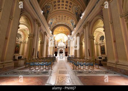 Una bella chiesa accanto al buco della serratura, Roma, Italia. Foto Stock