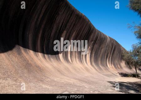 Hyden Australia, vista di wave rock una naturale caratteristica geologica Parole chiave lingua: E