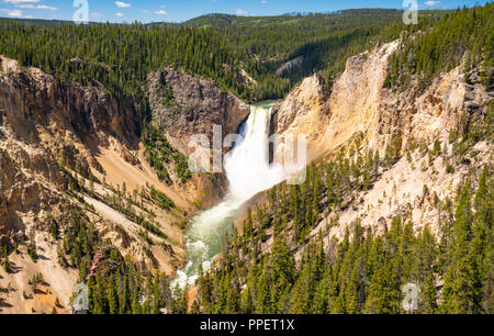 Le Cascate Inferiori del Canyon di Yellowstone nel Parco Nazionale di Yellowstone, Wyoming Foto Stock