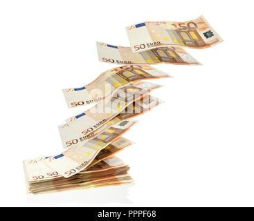 Molti euro di prendere il volo Foto Stock
