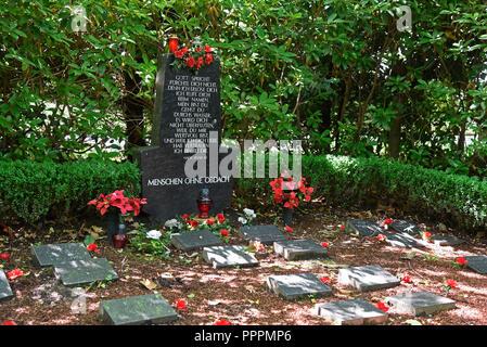 Tomba, recinto per i senzatetto, Ostfriedhof, cimitero, Dortmund, distretto della Ruhr, Nord Reno-Westfalia, Germania Foto Stock
