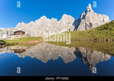 Le Pale di San Martino Dolomiti, Passo Rolle, provincia di Trento, trentino alto adige, italia Foto Stock