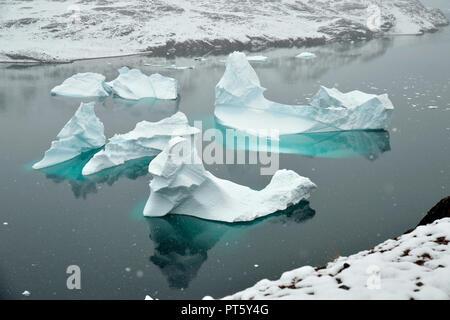 Ø Røde, Scoresby Sund, est della Groenlandia Foto Stock