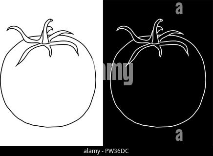 Pomodoro. Doodle Foto Stock