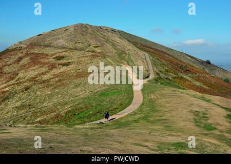 Vista dal faro di Worcester, Worcestershire Beacon, Il Faro, Worcestershire, Malvern Hills, England, Regno Unito Foto Stock