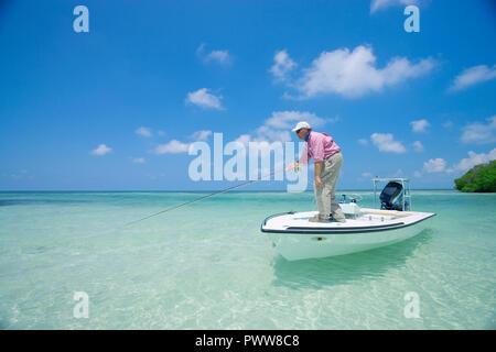 Saltwater fly fishing Foto Stock
