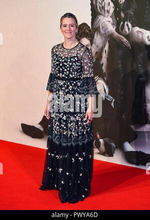 """Edith Bowman assiste il Regno Unito Premiere del """"favorito"""" & American Express a Gala La sessantaduesima BFI London Film Festival. Foto Stock"""