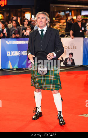 Londra, Regno Unito. 21 ott 2018. Steve Coogan assiste la Premiere mondiale e la chiusura notturna di screening di gala di 'Stan & Ollie' durante la sessantaduesima BFI London Film Festival nel mese di ottobre 21, 2018 a Londra, Inghilterra. Credito: Gary Mitchell, GMP Media/Alamy Live News Foto Stock