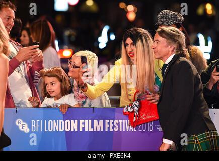 Steve Coogan assiste la Premiere mondiale e la chiusura notturna di screening di gala di 'Stan & Ollie' durante la sessantaduesima BFI London Film Festival. Foto Stock