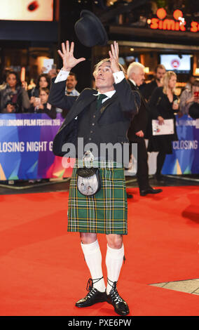 Londra, Regno Unito. Xxi oct, 2018. Steve Coogan assiste la Premiere mondiale e la chiusura notturna di screening di gala di 'Stan & Ollie' durante la sessantaduesima BFI London Film Festival. Credito: Gary Mitchell SOPA/images/ZUMA filo/Alamy Live News Foto Stock