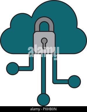 Cyber sicurezza dati Foto Stock
