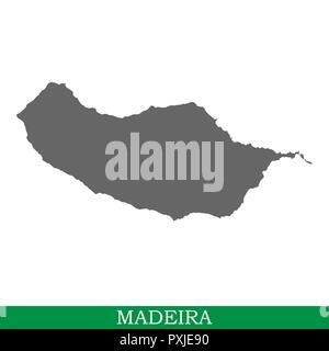 Alta qualità mappa di Madeira è un'isola in Portogallo Foto Stock