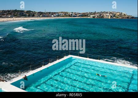 Sydney, Australia, nuotatore a Bondi iceberg club di nuoto