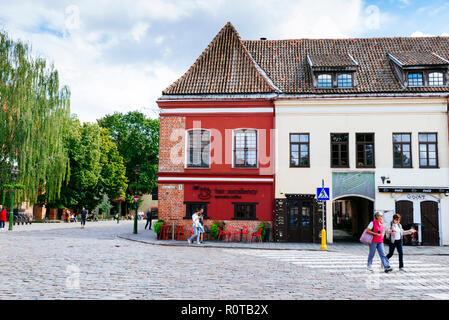Edifici in piazza del Municipio. Kaunas, Contea di Kaunas, Lituania, paesi baltici, Europa.