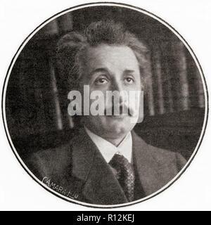 Albert Einstein, 1879 - 1955. Tedesco-nato fisico teorico, vincitore del 1921 Premio Nobel in fisica. Da La Esfera, pubblicato nel 1921. Foto Stock