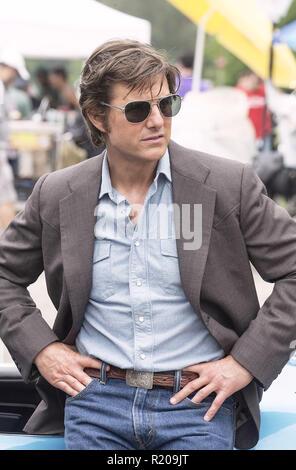 Stati Uniti d'America. Tom Cruise nel ©Universal Pictures nuovo film : American effettuati (2017). Trama: un pilota terre lavorare per la CIA e come un farmaco runner nel sud nel corso degli anni ottanta. Ref: LMK106-J691-050917 fornito da LMKMEDIA. Solo editoriale. Punto di riferimento media non è il proprietario del copyright di questi film TV o immagini fisse ma fornisce un servizio solo per supporti riconosciuti sbocchi. pictures@lmkmedia.com