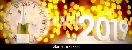Immagine composita di tridimensionali di nuovo anno numeri in colore grigio