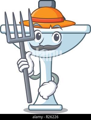 Cowboy divertente o felice agricoltore nel cappello. Fumetto illustrazione  vettoriale · Agricoltore cartoon lavello in cucina Foto Stock 90dede7e4a43