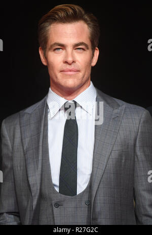 Sessantaduesima London Film Festival - Il Re Outllaw - Premiere con: Chris Pine dove: Londra, Regno Unito quando: 17 Ott 2018 Credit: WENN.com Foto Stock