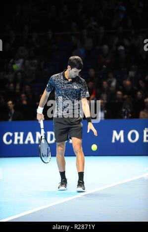 Londra, Regno Unito. Il 16 novembre 2018. Hughes Herbert, Nicolas MAHUT, 02 Arena di Londra, Regno Unito. Credito: Terry Scott/FotoArena/Alamy Live News