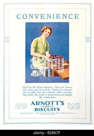 Arnott i famosi biscotti a piena pagina a colori 1932 pubblicità per Arnott  di biscotti a b88091188f8