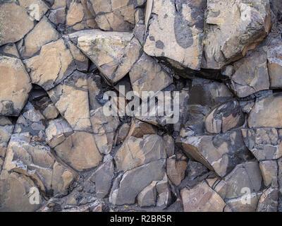 Real sharp texture di roccia Foto Stock
