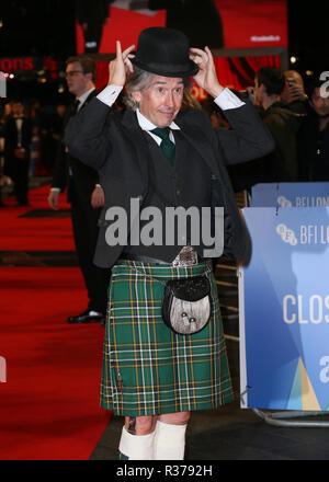 """La sessantaduesima BFI London Film Festival Premiere mondiale di 'Stan & Ollie"""" tenutasi presso il Cineworld Leicester Square - Arrivi con: Steve Coogan dove: Londra, Regno Unito quando: 21 Ott 2018 Credit: Mario Mitsis/WENN.com Foto Stock"""