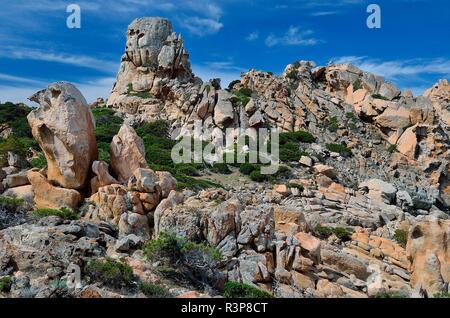 Costa di Granito: sito naturale del Conservatorio costiera tra Campomoro e Senetosa, Regione Propriano, Corsica, Francia