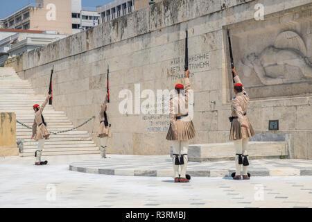 Cambio della Guardia, Atene, Grecia Foto Stock