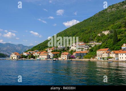 Lepetane, Baia di Kotor, Montenegro Foto Stock